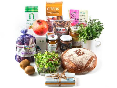 Resultado de imagen de organic food products gift baskets