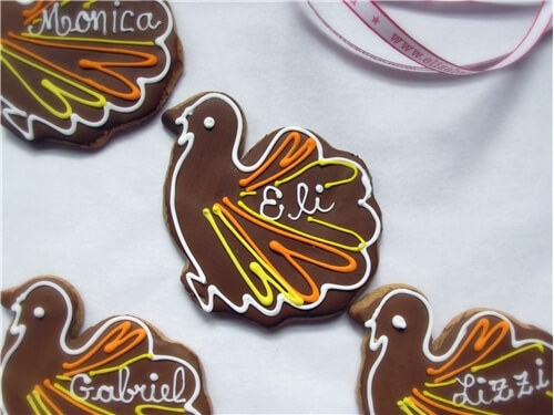Thanksgiving Place Card Cookies