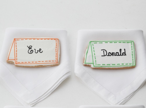 Place Card Cookies